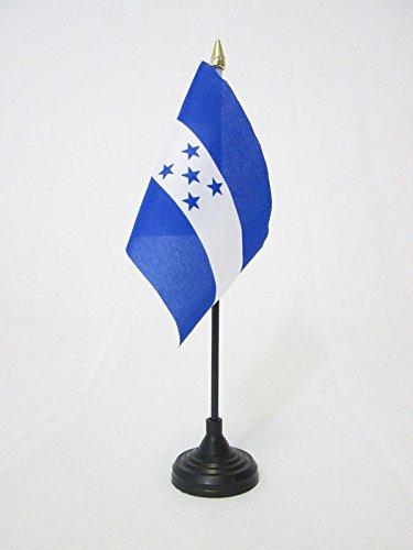 BANDIERA DA TAVOLO HONDURAS 15x10cm punta dorata - PICCOLA BANDIERINA HONDUREGNA 10 x 15 cm - AZ FLAG