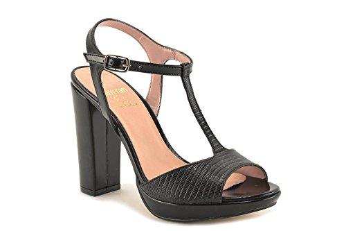ConBuenPie by Mayfran - modelo 5626 - Calzado de Piel para Mujer Color Negro y Beige Negro