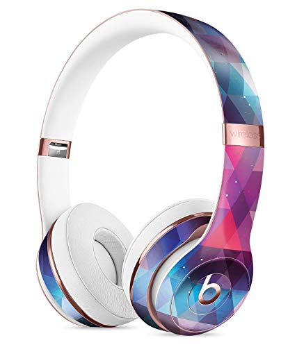 Vector Triangle Pink and Blue Galaxy DesignSkinz Full-Body Skin Kit for The Beats by DRE Solo 3 Wireless Headphones/Ultra-Thin/Matte Finished/Protective Skin Wrap