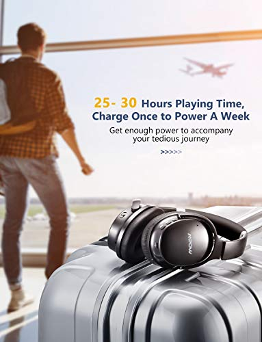 Mpow H10 [2019 Edition] Dual-Mic Active Noise Cancelling Bluetooth Headphones, ANC Over-Ear Wireless Headphones with CVC 6.0 Microphone, Hi-Fi Deep Bass, Foldable Headset for Travel/Work by Mpow (Image #3)