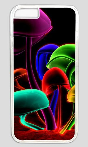 Colorful Mushroom Easter Thanksgiving Masterpiece Limited Design PC Transparent Case for iphone 6 by Cases & Mousepads