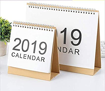 Amazon Com 2019 Monthly Desk Pad Calendar With Stand Twin Wire