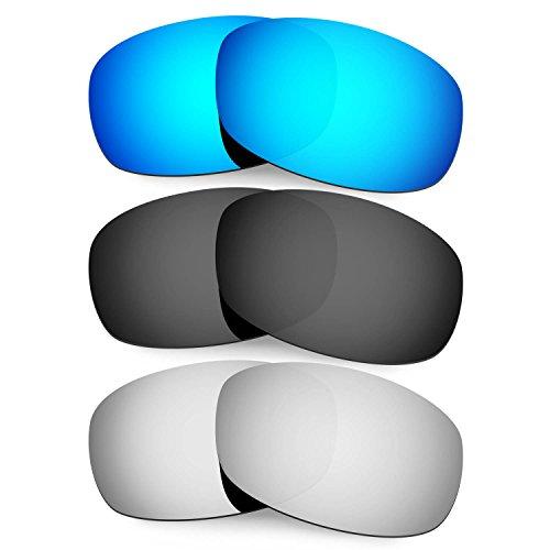 HKUCO Mens Replacement Lenses For Costa Brine Black/Titanium Sunglasses 8cayxhU
