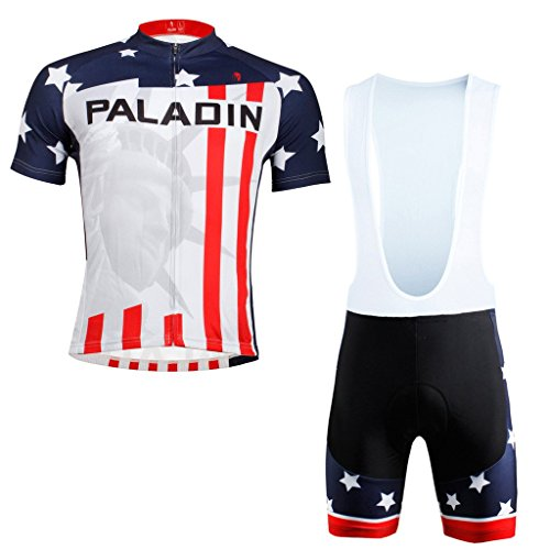 PaladinSport Men's American Flag Style Bib Shorts Set Size XL