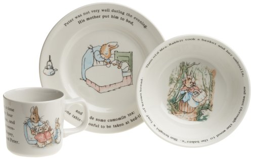Wedgwood Peter Rabbit Original 3-Piece Set, Mug, Plate, and Bowl by Wedgwood (Image #1)