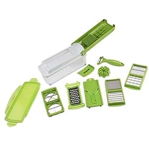 AGPtek Easy Vegetable Fruit Nicer Dicer Slicer Cutter Plus Container Chopper Peeler