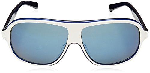 Nike Vintage MDL. 99Lunettes de soleil, Blanc/bleu foncé, bleu Flash objectif
