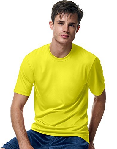 -  Hanes Men's Cool Dri Tagless T-Shirt ,Safety Green,2XL