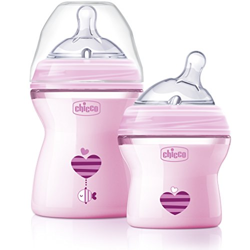 Chicco NaturalFit Colorific Bottle Slow Flow, Pink