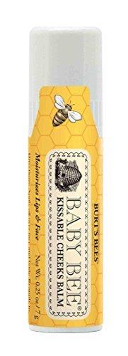 Burts Bees Baby Kissable Cheeks Balm, 100% Natural Baby Moisturizer - 0.25 Ounce Balm