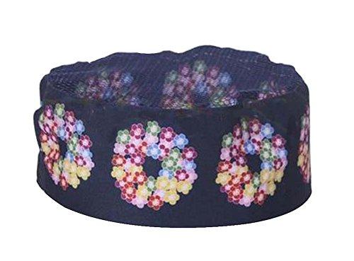 Black Temptation Japanese Style Hat Sushi Shop Chef Hat Waiter Hat Kitchen Hat [Blue-8]