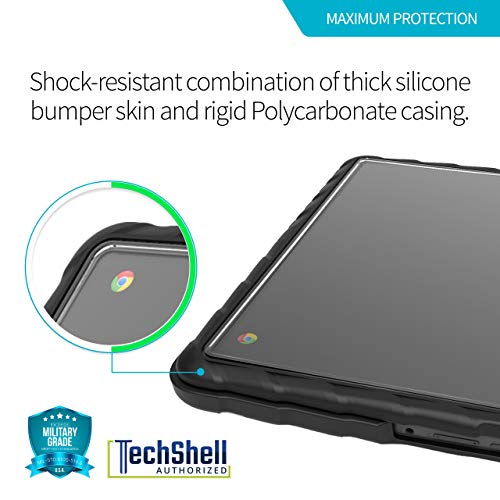 Gumdrop Cases DropTech Protection for Lenovo Chromebook 500e - Black, Rugged, Shock Absorbing, Custom Molded Laptop Cover