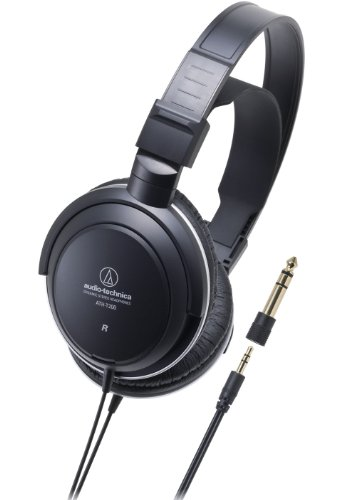 Recording Technica Audio (Audio-Technica ATH-T200 Closed-Back Dynamic Monitor Headphones with 40mm Driver - Black)