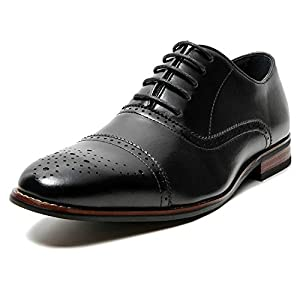 Men's Classic Leather Lined Lace Up Oxford Dress Shoes