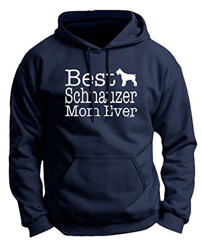 (Dog Gift Mini Schnauzer Clothes for Women Schnauzer Gifts Best Schnauzer Mom Ever Dog Gifts Premium Hoodie Sweatshirt XL Navy)