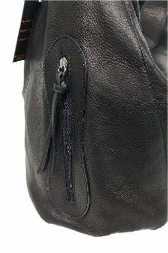 Borsa Leatherworld Nero Tote Italy Donna nZvvYU6px