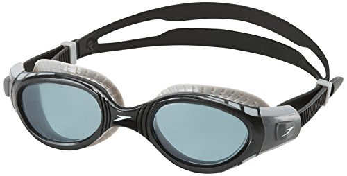 Speedo Futura Biofuse Flexiseal Swim Goggle, Smoke, One Size (Speedo Goggle Nose Piece)