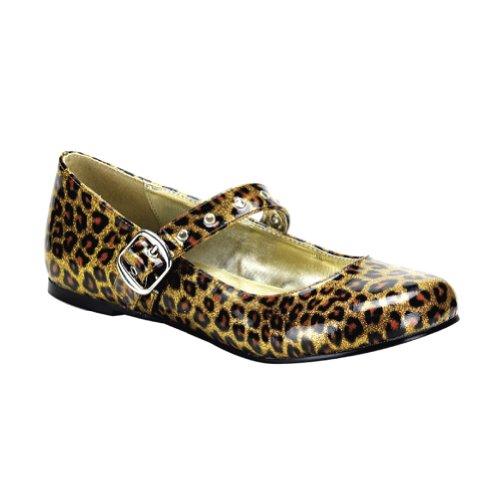 Cheetah Print Ballet Flats - Gold Cheetah Print Cute Shoes Ballet Flat Mary Janes Size: 6
