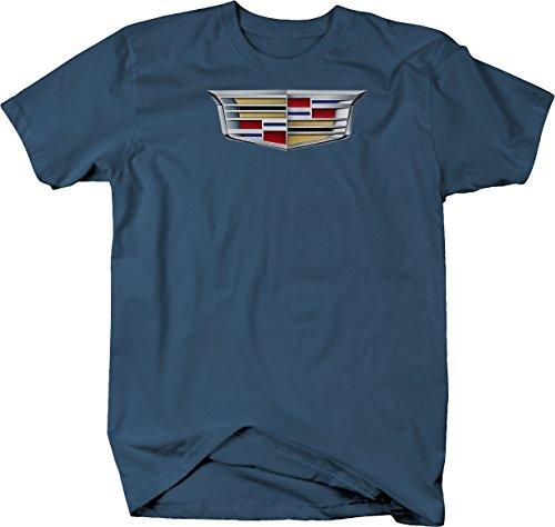 Cadillac Emblem Logo Tshirt - Large Denim Blue