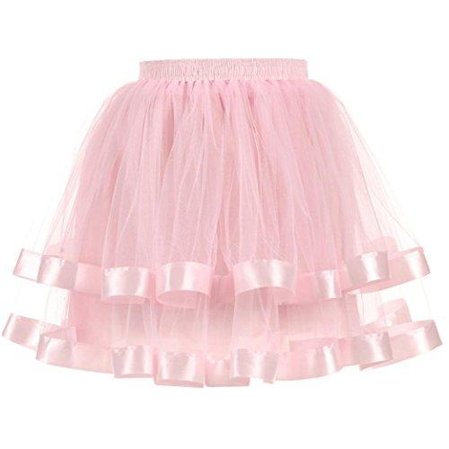 dentelle Mini Bal Jupon Rose pour Tutu Ballet Princesse Jupe Courte Bouffe en Costume Ansenesna Tulle Pliss Femme jupe qpBAYw