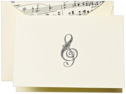 (Crane & Co. Treble Clef Note (CF1400))