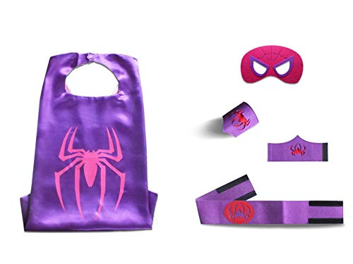 Halloween Costumes for Little Girls Toddlers Birthday Partys 5pc Set-Kid-O-Roma (Purple Spider Girl)