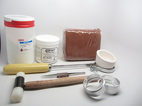Delft Clay Sand Casting Deluxe Kit Crucible Borax Powder Gold Silver Copper