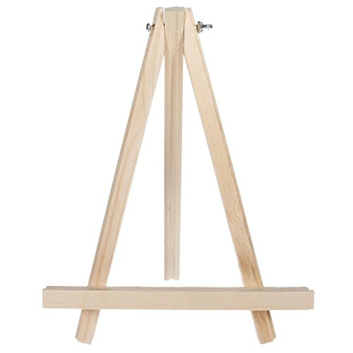 Sugars Portable Wooden Tripod Tabletop Display Small Easel for Sketching Painting Small Artist Easel Phase Frame 9 inch 9-inch 9