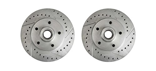 The Right Stuff BR03ZDC Front Zinc Drilled/Slotted Brake Rotor, Pair