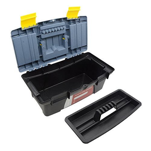 Saim Light-duty Toolbox Portable Plastic Hand Tool Box with One Main Compartment and Small Storage in Lid by Saim