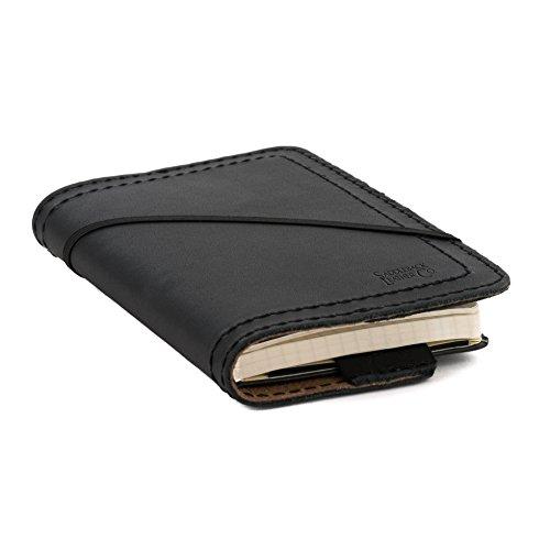 Free Saddleback Leather Medium Moleskine Cover in Black
