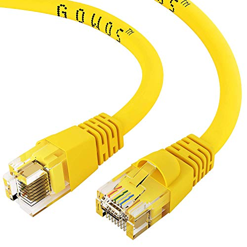 Green Cat5 10ft Patch Cord (GOWOS Cat5e Ethernet Patch Cable - 2 Feet, Yellow - Snagless/Molded Boot)