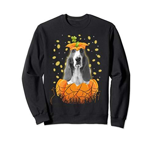Halloween Basset Hound Dog In Pumpkin Gift 2019 Shirt Sweatshirt]()