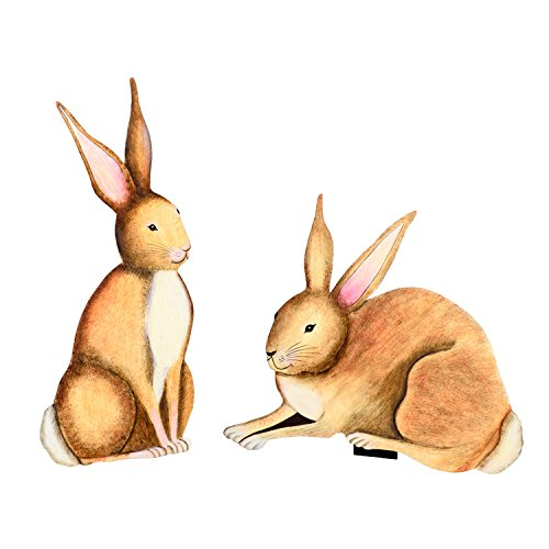The Round Top Collection Vintage Natural Rabbit Pair/Asst. 2 - ()