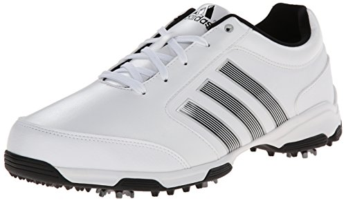 Adidas White Lite Golf Shoe (adidas Men's Pure 360 Lite  Golf Shoe, Running White/Core Black/Core Black, 9.5 M)