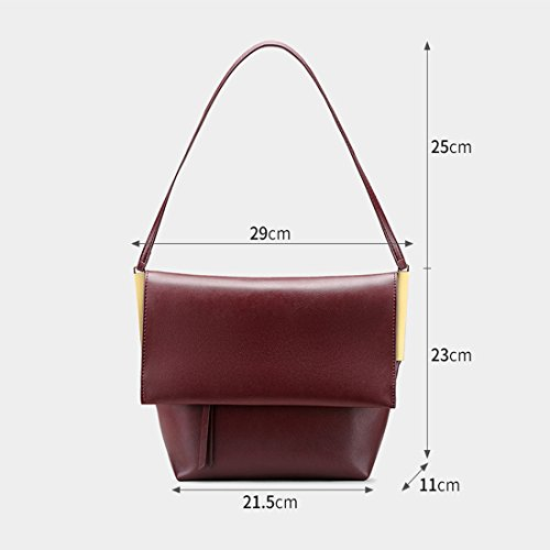 Sac à Sac Casual Red à Shopping bandoulière Sac Main Crossbody en Femmes Retro WEATLY bandoulière Street Cuir Bag à vxAqnPOX