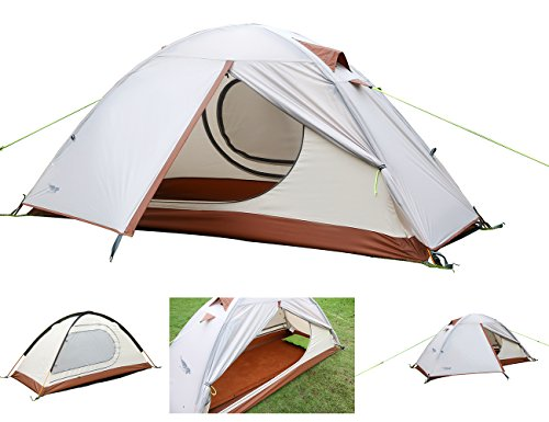 Luxe Tempo Single 1 Person Tent 4 Season Freestanding for Camping 3.3LB with Footprint High-end Silnylon Backpacking Tent 2 Doors 2 Vestibules