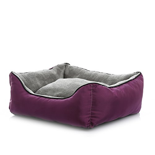 SENYEPETS Dog Bed House for Medium Dogs Orthopedics Dog Kennel Sofa Autumn and Winter Small Dog Supplies (Purple - Dog Designer Fab