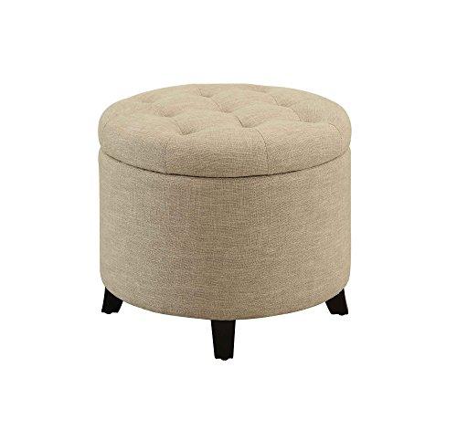 Convenience Concepts Designs4Comfort Round Ottoman, Tan ()