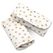 Metallic Gold Dot Car Seat and Stroller Strap Covers by The Peanut Shell
