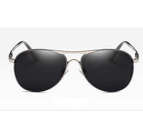 comodidad la polarizadora hombres ligeras sol de gafas UV400 los C4 C9 retro metal lente la de de Moda Lente del ZHANGYUQI de Color qZIOPP