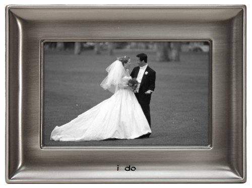 "I Do"" Metal Picture Frame 4x6"