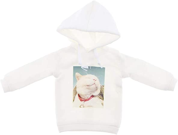 Cute Handmade Doll Pullover Clothes for Blythe 12inch Doll Dress up White