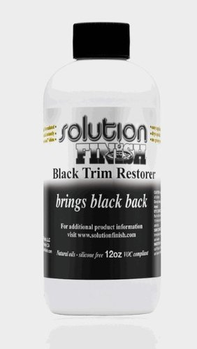 Solution Finish Black Plastic & Vinyl Plastic Trim Restorer - Car and Truck Polish - 12 oz
