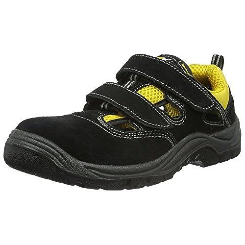 Kick Footwear Mens Bases de Acero Puntera de Seguridad de Encaje de Trabajo Ligero Entrenadores,punta de Acero - REINO UNIDO EL 9/UE 43, Negro