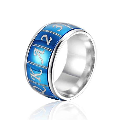 BOBIJOO Jewelry Bague Chevali/ère Homme Arm/ée United States Navy Acier Or Noir Bleu Saphir Plaqu/é