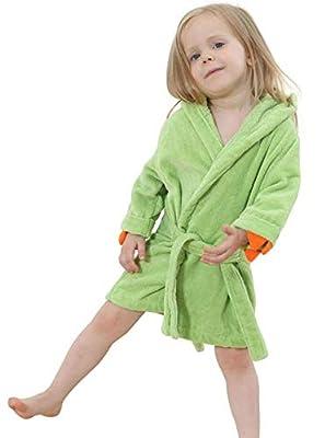 Boys Girls Toddler Robe,Kids Hooded Cotton Terry Cloth Bathrobe,Animal Dinosaur Pajamas Sleepwear Bathrobes for Girls Kids