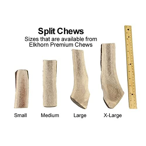 durable modeling Medium, Split, Single Pack - Grade A Premium Elk Antler Chew for 20-40 lb dogs – Naturally shed from wild elk – No Mess, No Odor – – Made in the USA