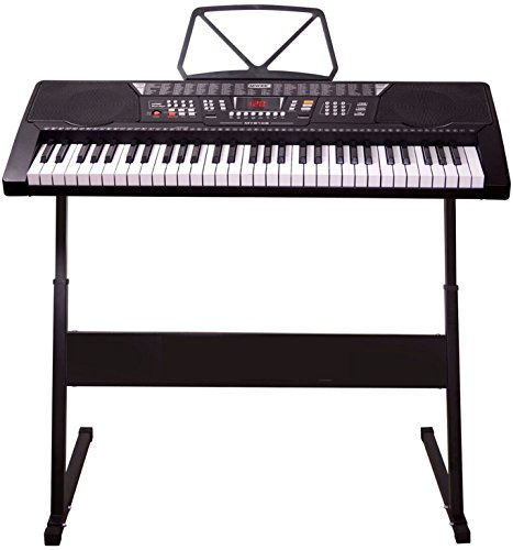 full size 61 keys digital teaching keyboard with stand. Black Bedroom Furniture Sets. Home Design Ideas
