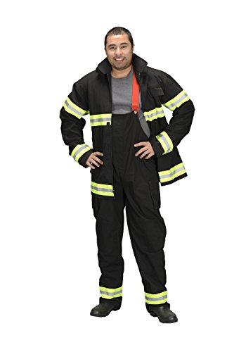 Aeromax Adult Firefighter Suit, Black, Small]()